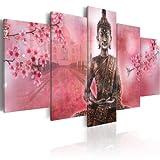 murando Impression sur toile 100x50 cm - 5 pieces - Image sur toile - Images - Photo - Tableau - motif moderne - Décoration - tendu sur chassis - Bouddha Zen 020113-216 100x50 cm