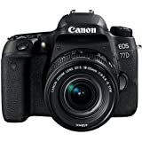 Canon EOS 77D SLR-Digitalkamera (24,2 Megapixel, 7,7 cm (3 Zoll) Display, APS-C CMOS Sensor, Full HD) kit inkl. EF-S 18-55mm 1:4-5,6 IS STM Objektiv schwarz