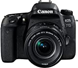 Canon EOS 77D - Cámara réflex de 24.2 MP (vídeo Full HD, WiFi, Bluetooth) negro - kit cuerpo con...