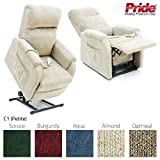 Pride C1 Petite Riser Recliner Chair - Burgundy
