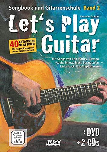 Let's Play Guitar Band 2 (mit 2 CDs und DVD): Songbook und Gitarrenschule (Jazz-gitarre Dvd)