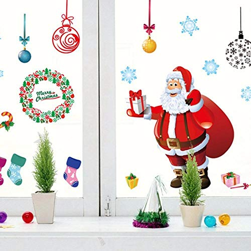 SUN-YUANYI Etiqueta de la pared del árbol de Navidad extraíble Sala de Estar Decoración del dormitorio Pegatinas de vinilo DIY Wall Wallpaper Decal Sticker Hot New