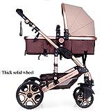 QXMEI Baby-Kinderwagen, Leichte Kinderwagen, Kinderwagen, Hochkarätige Kinderwagen, Können Sich Falten Kinderwagen Setzen,9
