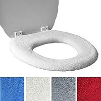 Toilet Seat Cover - Fleece Super caldo - per anello di metallo - SCEGLI Cream o Red - Universal Fit - Lavabile in lavatrice