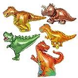 ED-Lumos Globo Dinosaurio Helio Mini Globos para Fiesta de niños Globo de cumpleaños 5 Piezas Decoración para Fiesta de los niños