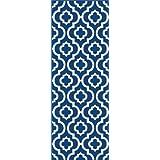 Metro Tayse contemporáneo 1027 zona corredor, 60,96 cm 17,78 cm por cm 213,36 7,62 cm, color azul marino