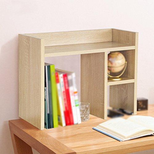 Librería Libro Stand 50 * 22 * 40 Cm Estantería Escritorio Estante Rack Estante Madera Color