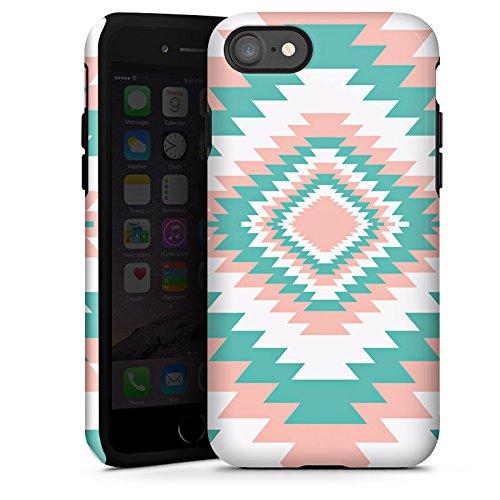 Apple iPhone X Silikon Hülle Case Schutzhülle Ethno Frühling Muster Tough Case glänzend