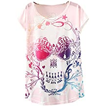 8583b58a95a181 YICHUN Femme Fille Léger T-Shirt Tops Fin Tee-Shirt de Loisir Eté Camisole