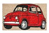 Jute & Co Auto Zebrino Stampato, Cocco/PVC, , 45x75 cm