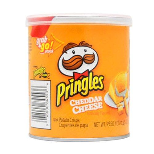 Pringles 0038000845536 Potato Chips Cheddar Cheese 40