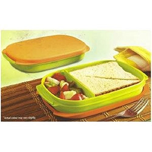 Tupperware Kompact Plastic Lunch Box, 600ml, Multicolour  available at amazon for Rs.400