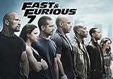 Poster, Motiv: Fast & Furious 7 – Nr. 4–Vin Diesel, Paul Walker–Film-Poster–Hollywood-Filmposter–A3,Poster, Druck, Kunst, Bild
