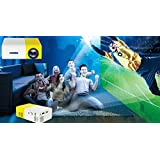New Mini Projector, Portable LED Projector Home Cinema Theater With PC Laptop USB/SD/AV/HDMI Input Pocket Projector For Video Movie Game Home Entertainment Projector - B07BSK8QX5