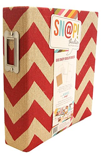 Simple Stories Jute Snap Binder 6 x 20,3 cm, Rot (Name Card Scanner)
