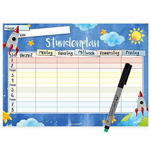 ndenplan mit magnetischer Rückseite I DIN A4 I mit Stift abwischbar für Schule Grundschule Kühlschrank Kinder Junge Jungs Teenager I dv_251 ()