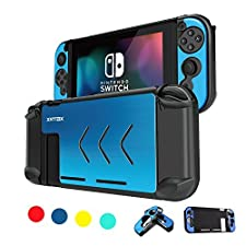 XNTBX Protective Case Compatible with Nintendo Switch - Anti-scratch Dustproof Hard Cover Shells For Nintendo Switch Console And Joy-Con Controller NS (Blue)