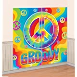Amscan 60s Groovy Scene Setters Wall Decorating Kit