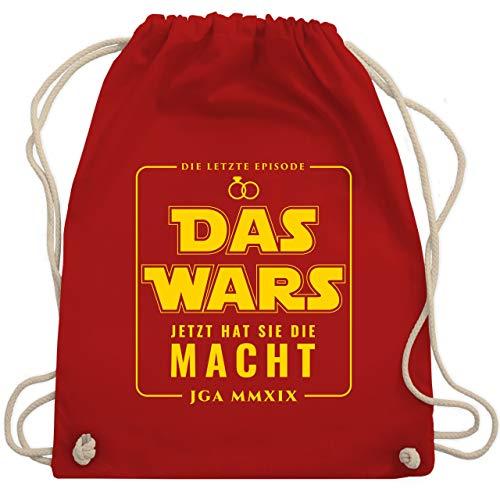 Kostüm Jetzt - JGA Junggesellenabschied - Das Wars JGA 2019 Jetzt hat sie die Macht - Unisize - Rot - WM110 - Turnbeutel & Gym Bag
