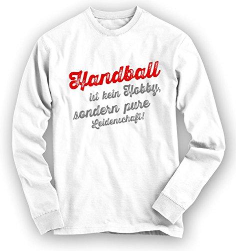 Handball Sweatshirt | Handball-Pullover | Hobby | Leidenschaft | Unisex | Sweatshirts, Farbe:Weiß;Größe:XL