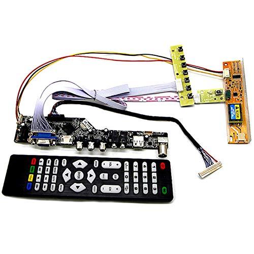 TOOGOO Tv + Hdmi + Vga + Av + USB + Audio Tv LCD Treiber Platine 15,4 Zoll Lp154W01 B154Ew08 B154Ew01 Lp154Wx4 1280X800 LCD Controller Platine DIY Kit Vga Lcd-controller