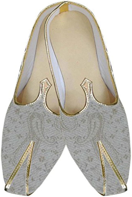 INMONARCH Brocado Natural Hombres Zapatos de Boda MJ0016