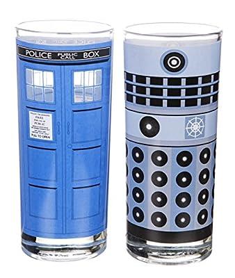 TARDIS et Dalek Doctor Who lot de 2 verres avec boite cadeau
