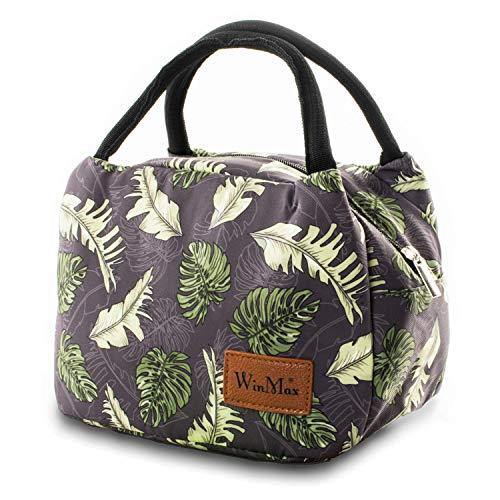 winmax Tasche für Lunch Kühltasche Lunch Tasche Isoliertasche Mittagessen Beutel Picknicktasche Thermal Mittagessen Tasche zur Arbeit und Schule