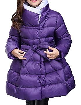 SMITHROAD Mantel Winter Winterjacke Mädchen verdickte Oberbekleidung Schleife warm Stehkragen Winddicht Trenchcoat...