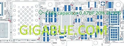 C180Capacitor 0.47uF Eingebauter IC Chip für Mainboard Motherboard für iPhone 5
