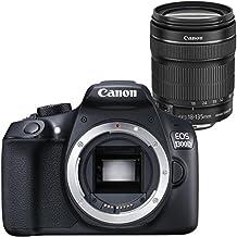 Canon EOS 1300D - Cámara reflex de 18 Mp (pantalla de 3'', Full HD, 18-135 mm IS, NFC, WiFi), color negro - Kit con objetivo EF-S 18-135 mm IS