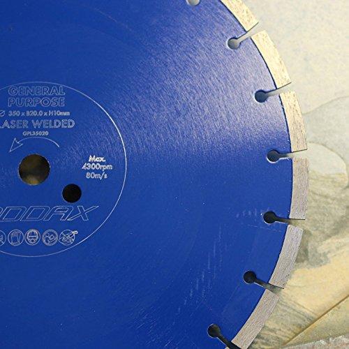ADDAX TIMCO General Purpose Tile Cutting Saw Blade 350 x 20.0 x 3mm