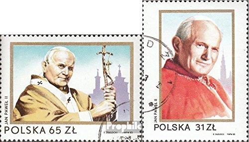 polonia-2868-2869-completaproblema-1983-papa-john-paul-ii-in-polonia-francobolli-