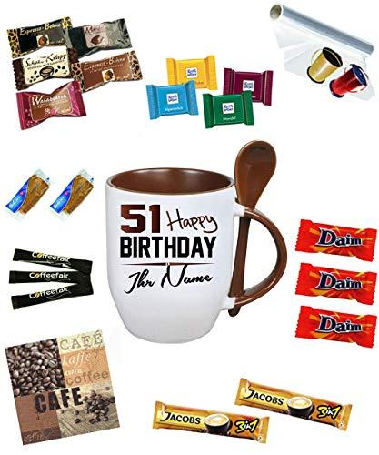 Befüllte Personalisierte Tasse zum Geburtstag * Happy Birthday 51