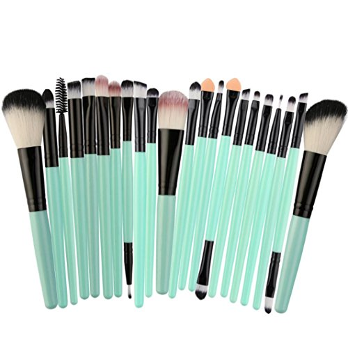Waschen Kabuki-pinsel (20 Stück pro Make-up Pinsel-Set Werkzeuge, smytshop Soft Kosmetik Make-up Toiletry Kit Holzgriff Make up Pinsel Set)