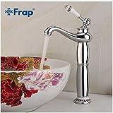 Wasserhahnwasserhahn Bad Wasserhahn Silber Mischbatterie Einhebel-Warm & Kalt Waschbecken Armatur Torneiras Banheiro Y10173