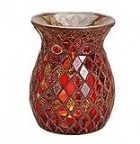 Feste Feiern Aromalampe Duftlampe Diffusor l Scentchips Mosaik Venedig Glas Rot Gold Tiffany Style Duftwachs Duftöl Waxtards Teelichte