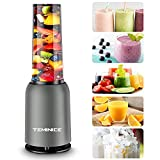 TEMINICE Professional Personal Countertop Blender for Milkshake, Fruit Vegetables Drinks, Ice, Small Mini Portable Single Food Bullet Blenders Processor Shake Mixer Maker with Cup,15 Ounce