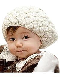 FEITONG Niños de los bebés El invierno caliente linda Casquillo del Knit Hat Gorro de ganchillo