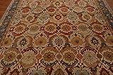 Tappeto e Moquette in Lana Stile Tradizionale Persiano Orientale, Design Anticato, Fatto a Mano, Colore: Beige, 100% Lana, Beige, 5x8(152x244) cm