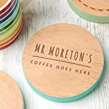 Personalised Wooden Coaster - Personalised Teacher Gifts/Present for Women or Men