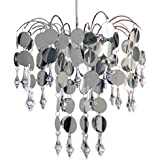 """New """"Chic"""" Silver Ceiling Light Chandelier"""