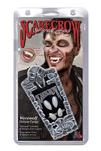 (Smiffys Scarecrow Custom 4Pc Warewolf Fangs)