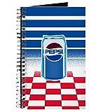 CafePress Pepsi Flashback Dosen-Notizbuch, Spiralbindung, persönliches Tagebuch, Punkt-Raster