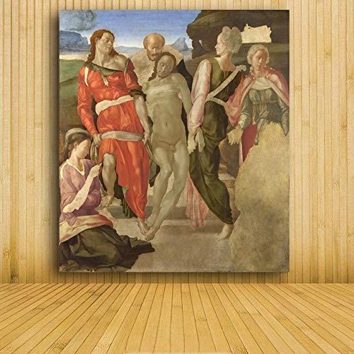 WSWWYAdams Gemälde im Freien, Leinwandbilder, Kunstdrucke, weltberühmte Gemälde von Michael Angel A 50x70cm ohne Rahmen