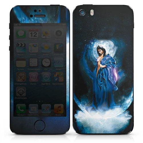 Apple iPhone 4s Case Skin Sticker aus Vinyl-Folie Aufkleber Frau Mädchen Universum DesignSkins® glänzend