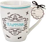 """Sheepworld 59256 Lieblingstasse """"Traummann"""", Porzellan, mit Geschenkanhänger"""