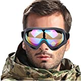 UV Protection Windproof Dustproof Outdoor Sports Ski Glasses CS Army Tactical Military Airsoft Goggles Snowmobile Bicycle Motorcycle Basketball Football Safety Glasses Protective Goggles