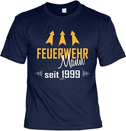 18 Jahre Lustige Sprüche Fun Tshirt Feuerwehr Mann seit 1999 - Geburtstag tshirt Navyblau