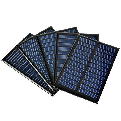 AIYIMA 5 Stück 6 V Polykristalline Silikon Solarpanel für Handy-Ladegerät Photovoltaikzelle 90 x 60 mm / 3,54 x 3,26 100 mA 0,6 W Solarzellen Teller Solarspielzeug DIY Projekt